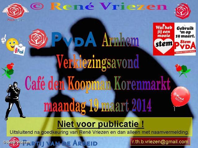 R.Th.B.Vriezen 2014 03 19 0002 PvdA Arnhem Verkiezingsavond Café den Koopman Korenmarkt woensdag 19 maart 2014