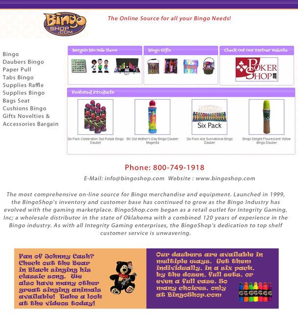 Supplies bingo Picture Box