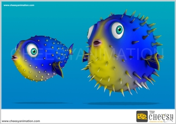 3D Fish Render for Game 2 2d animation