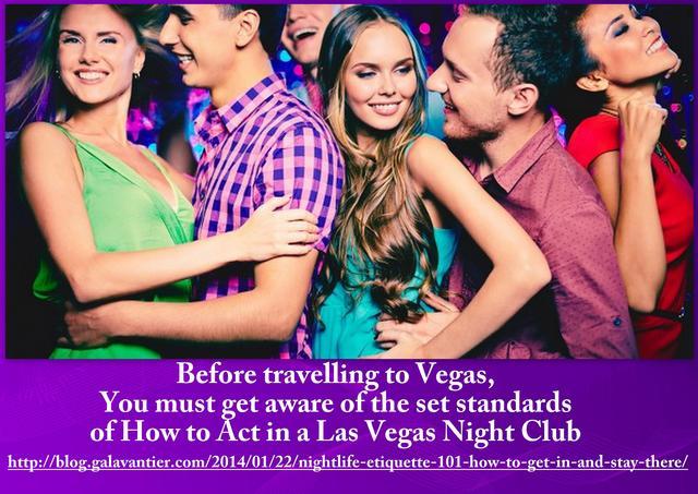 Necessity of Las Vegas Night Club Etiquette Picture Box