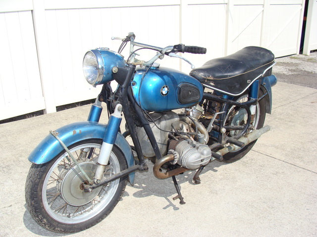 652109 '55 R69, Blue 001 SOLD.....652109 1955 BMW R69, Blue. Complete, good compression