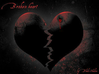 red broken heart Picture Box