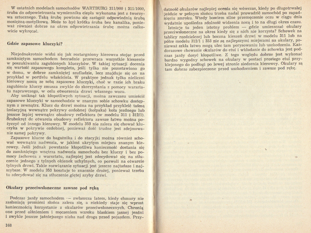 str 168-169 Jeżdżę samochodem Wartburg