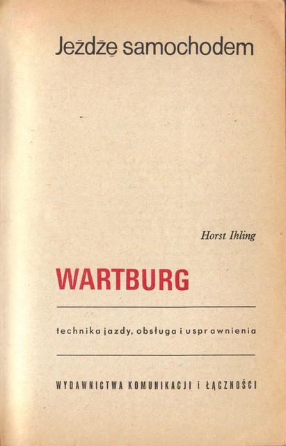str 3 Jeżdżę samochodem Wartburg