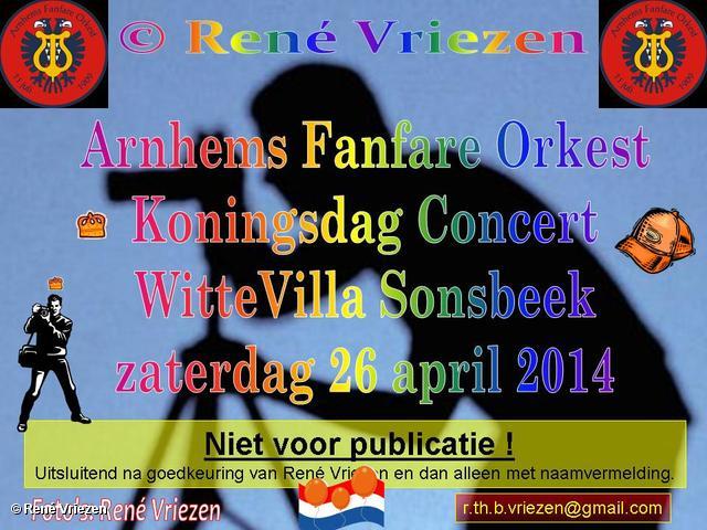 R.Th.B.Vriezen 2014 04 26 0000 Arnhems Fanfare Orkest Koningsdag Concert WitteVilla Sonsbeek zaterdag 26 april 2014