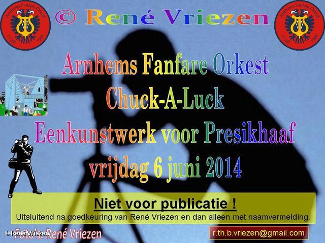 R.Th.B.Vriezen 2014 06 06 0000 Arnhems Fanfare Orkest Chuck-A-Luck Een kunstwerk voor Presikhaaf vrijdag 6 juni 2014