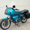 SOLD.....6293883 1993 BMW R100RT, Turquoise. NEW Tires, Sealed Battery, Alternator, Regulator. BMW Saddlebags, Engine Guards, Brown Sidestand, + much more!