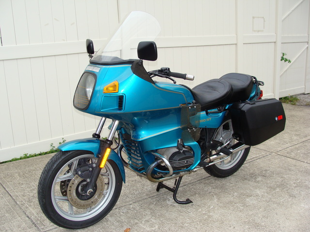 6293883 '93 R100RT, Turquoise 001 SOLD.....6293883 1993 BMW R100RT, Turquoise. NEW Tires, Sealed Battery, Alternator, Regulator. BMW Saddlebags, Engine Guards, Brown Sidestand, + much more!