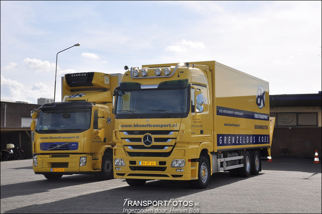 MB Actros 2536 LENA. BK Sneltransport Veghel Foto's van de trucks van TF leden
