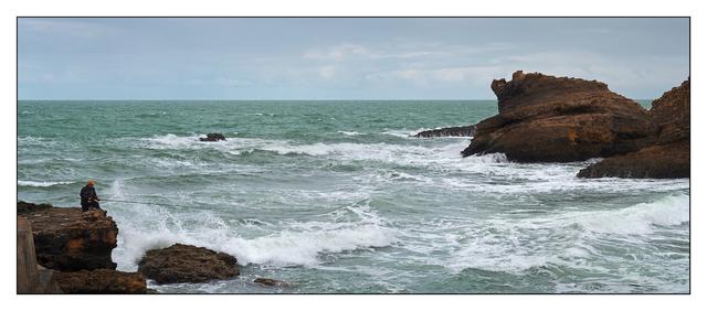 Biarritz Fisherman Panorama - France Panoramas