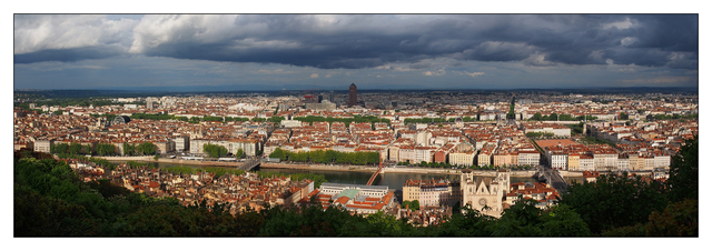 Lyon Panorama France Panoramas