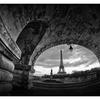 Pont de Bir-Hakeim B&W - France