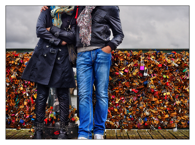 Pont des Arts Couple France