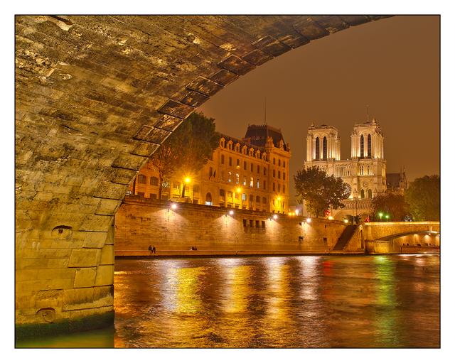 -Under Pont Saint Michel France