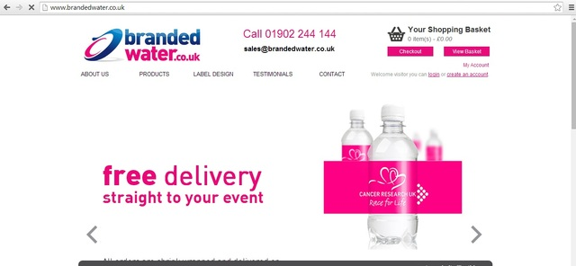 Branded water  Promotional Bottled Water