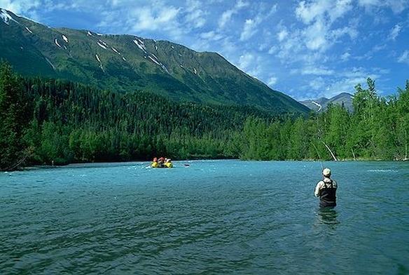 Alaska fishing Lodge Picture Box