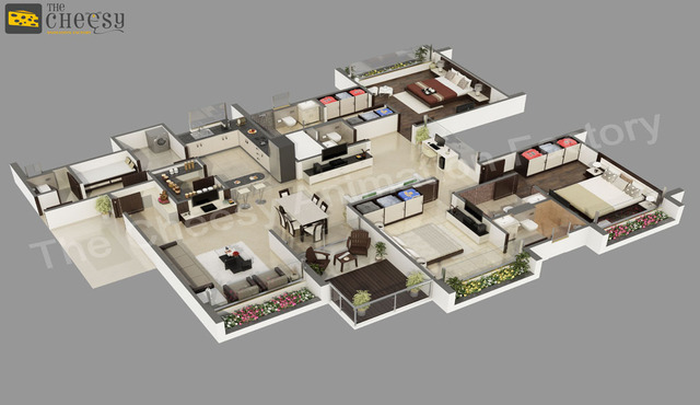 3D Floor Plan1 3D floor plan
