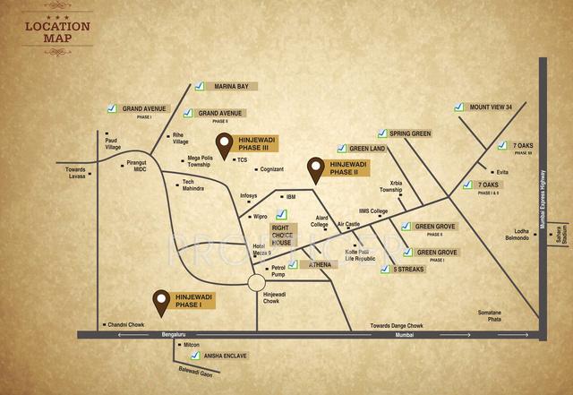 right-choice-marina-bay-location-plan Developed plots in Hinjewadi Pune