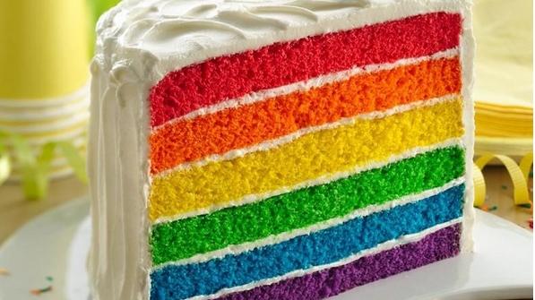rainbow cake Picture Box