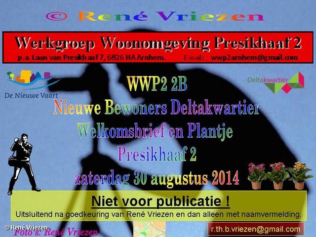 R.Th.B.Vriezen 2014 08 30 0001 WWP2 2B Nieuwe Bewoners Deltakwartier Welkomsbrief en Plantje zaterdag 30 augustus 2014