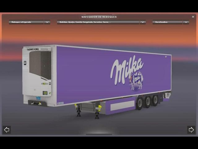ets2 Milka Trailer tested 1.12by nic0ch0c  .scs dutchsimulator