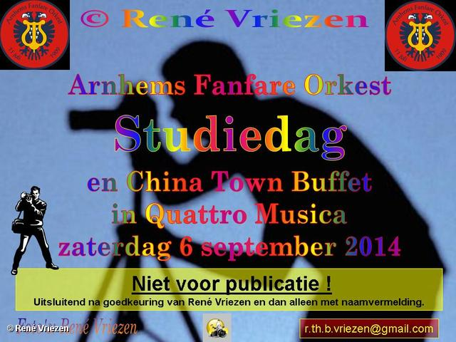 R.Th.B.Vriezen 2014 09 06 0000 Arnhems Fanfare Orkest Studie Dag & China Town Buffet zaterdag 7 september 2014
