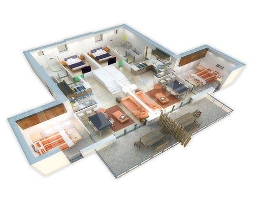 Architectural 3D Floor Plan 3D Floor Plan