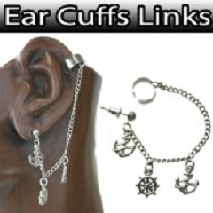 cuff anchore and wheels ES31 new arrival for wholesale jewelry
