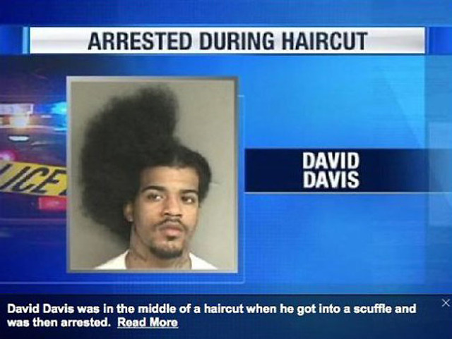 arrested-during-haircut Funny pictures