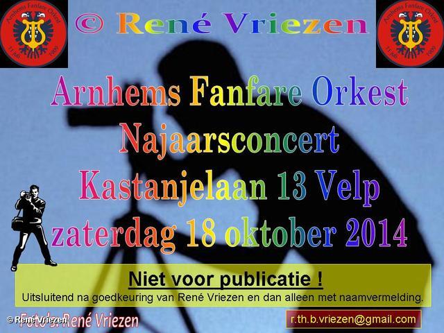 R.Th.B.Vriezen 2014 10 18 0000 Arnhems Fanfare Orkest JaarConcert Kastanjelaan 13 Velp zaterdag 18 oktober 2014