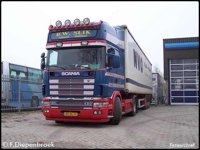 BP-HL-11 B.W Slik 124 420 Scania-BorderMaker oude foto's