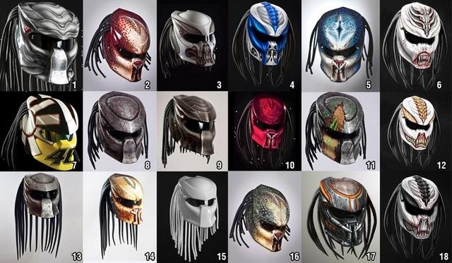 Predator motorcycle helmet Picture Box