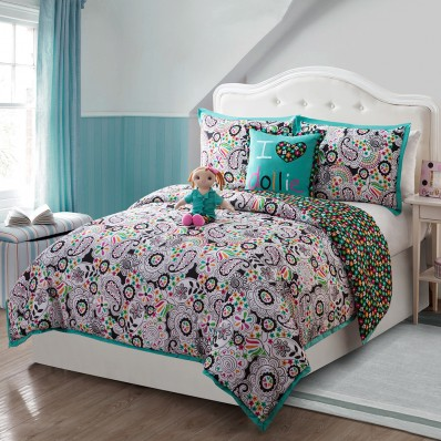 """Paisley Daisy-ly"" Reversible Bedding Set with 18  Bedding"
