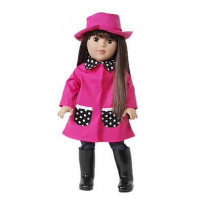 """Raincoats & Rainbows"" Dollie - 18 inch Play Doll Dollies"