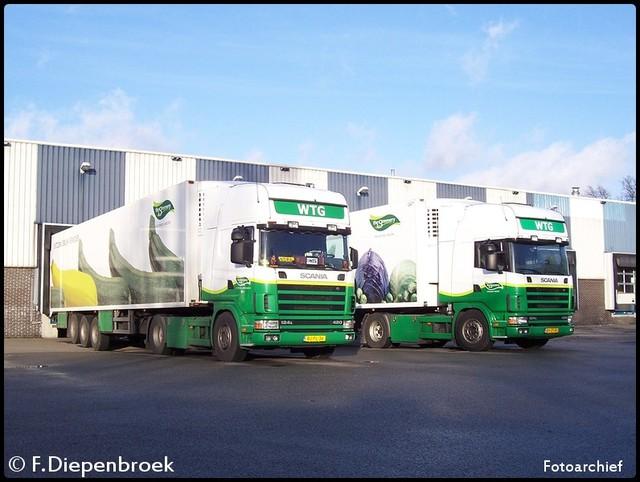 Groepsfoto WTG 2x Scania 124 420 2-BorderMaker oude foto's