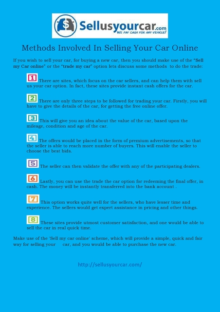 Methods involved in selling your car online-page00 Methods involved in selling your car online