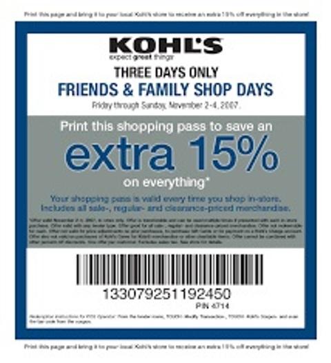 kohls coupons DepartmentCoupons.com
