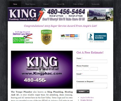 Plumber Chandler AZ King Plumbing, Heating & AC LLC