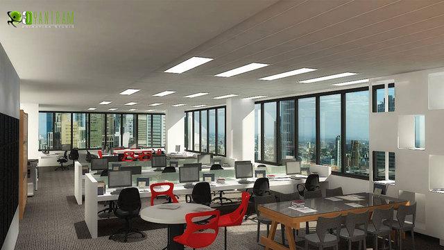 Commercial 3D Interior CGI Office Interior 3D Rendering CGI Design