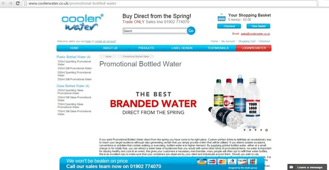 Promotional Branded Water Brandable Water