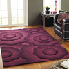 Wool Rug with Purple Texture - Carpets