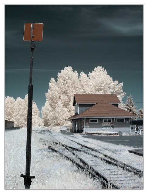 Infrared Train Station 01 Infrared photography