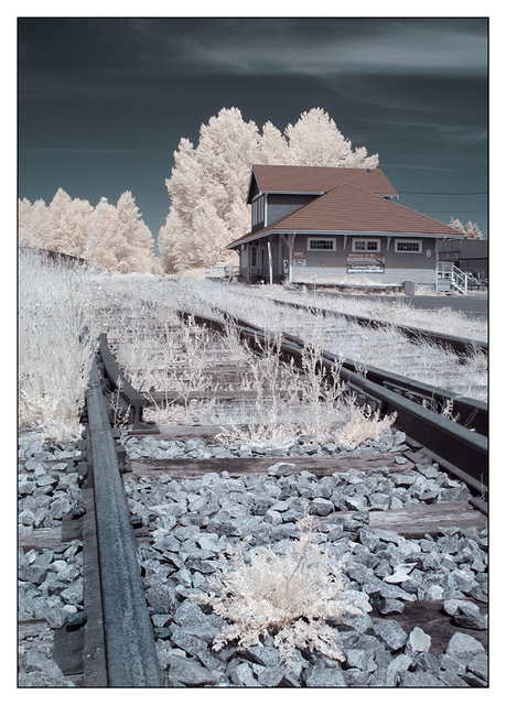 Infrared Train Station 02 Infrared photography