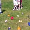 het traditionele klompgooien - Zomerkamp 2015