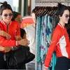 Kendall Jenner White stripe... - Samish Leather Jackets