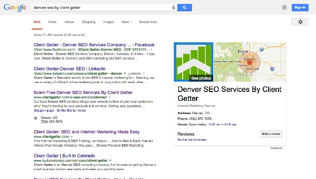 Denver SEO Client Getter