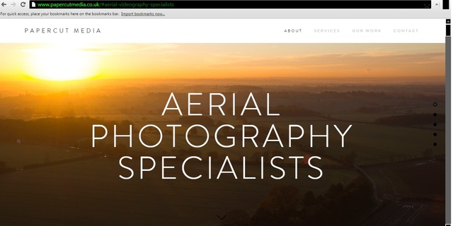 aerial photography video production west midlands