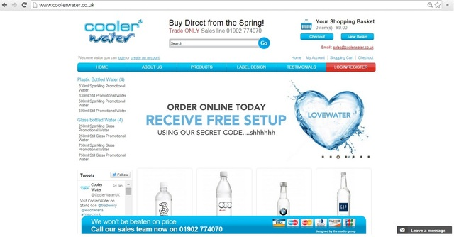 Effective Advertising through Promotional Bottled  coolerwater branded water