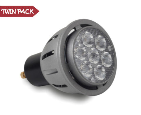 5 WATTS GU10 LED BULB: PACK OF 2 BULBS 350 LUMENS LED LIGHTS