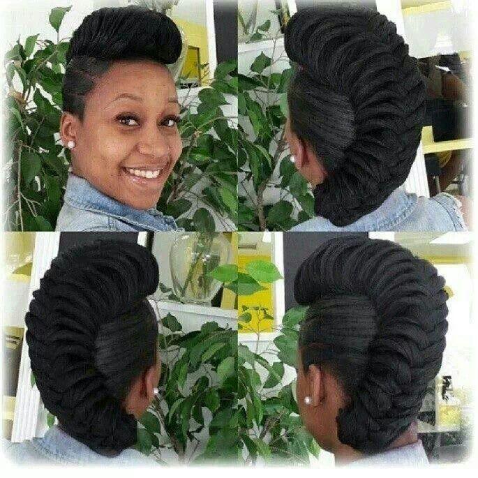 Pleasing French Braid Updo Black Hair Braids Hairstyle Inspiration Daily Dogsangcom